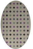 rug #709917 | oval beige geometry rug