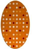 rug #709929   oval orange retro rug