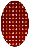 rug #709931 | oval retro rug