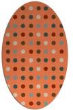 rug #709933 | oval beige circles rug