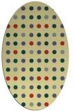 rug #709941 | oval blue-green circles rug