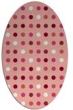 rug #709957 | oval white retro rug