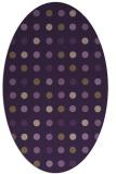 rug #709969 | oval mid-brown retro rug