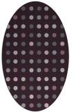 rug #709973 | oval purple retro rug