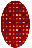 rug #709977 | oval red retro rug