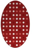rug #709985   oval red circles rug