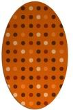 rug #709997 | oval red-orange circles rug