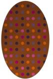 rug #710001   oval red-orange popular rug