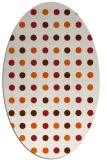 rug #710005 | oval red-orange geometry rug