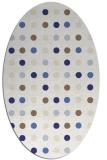 rug #710017 | oval white rug