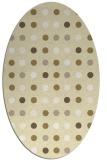 rug #710029 | oval yellow circles rug