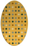 rug #710041 | oval yellow circles rug