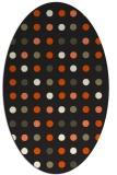 rug #710045   oval black retro rug