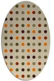 rug #710053   oval orange circles rug