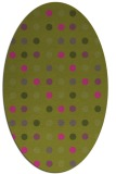 rug #710065 | oval light-green circles rug