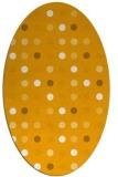 rug #710073 | oval light-orange circles rug