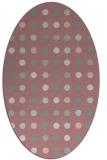 rug #710077 | oval pink geometry rug