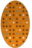 rug #710081 | oval light-orange circles rug