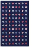 rug #710181 |  blue-violet circles rug