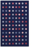 rug #710181 |  blue-violet retro rug