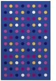 rug #710193 |  blue-violet circles rug