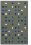 rug #710217 |  blue-green retro rug