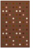 rug #710233 |  brown circles rug