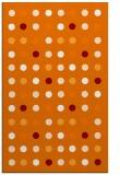 rug #710281 |  orange circles rug