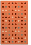 rug #710289 |  red-orange circles rug