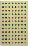 rug #710293 |  yellow circles rug