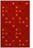 rug #710333 |  orange circles rug