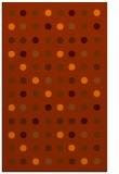 rug #710345 |  red-orange retro rug