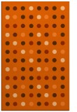 rug #710349 |  red-orange circles rug