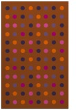 rug #710353 |  red-orange retro rug