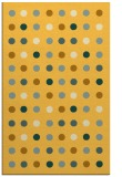 rug #710393 |  yellow circles rug