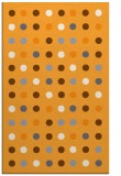 rug #710437 |  light-orange circles rug