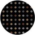 rug #710449 | round black retro rug