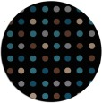 rug #710457 | round brown retro rug