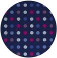 rug #710469   round blue circles rug
