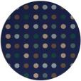 rug #710473   round blue circles rug