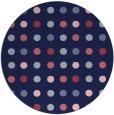 rug #710533 | round pink circles rug