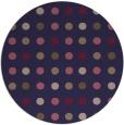 rug #710549   round blue-violet retro rug