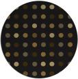 rug #710557 | round black circles rug