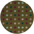 rug #710561 | round brown retro rug