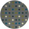 rug #710569 | round blue-green rug