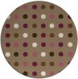 rug #710593 | round mid-brown retro rug