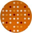 rug #710633 | round orange retro rug