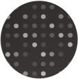 rug #710641 | round red-orange retro rug
