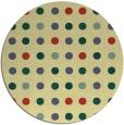 rug #710645 | round yellow retro rug