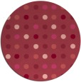 rug #710657 | round pink retro rug